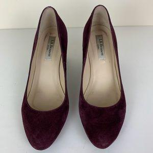 LK Bennett Shoes - L.K. Bennett Plum Oxblood Sersha Suede Pump Sz 7